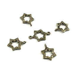 Pave Diamond Star Charms