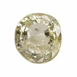 Oval Unheat Yellow Sapphire
