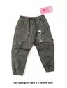 Grey Lycra Cotton Boys Trousers