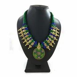 Round Pendant Meenakari Kolhapuri Necklace