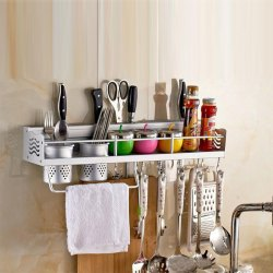 Kawachi Space Aluminum Kitchen Rack Cooking Tools Holder