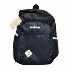 LeeRooy Unisex Polyester Designer Black School Bag