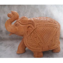Wooden Carved Elephant Statue