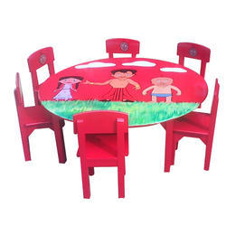 Preschool Round Table And Chair Set