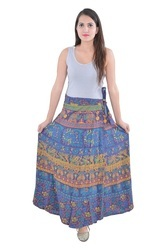Indian Multi Round Women Cotton Mandala Rapron Skirts