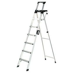 Aluminum Folding Double Step Trestle Ladder