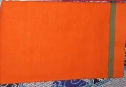 Plain Cotton Gamacha 140 Centimeter Long, Red and Orange