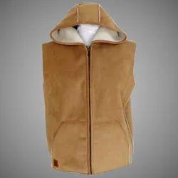 Hooded Plain Sleeveless Mens Fashion Hoodies, Handwash, Zip