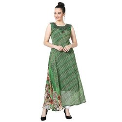 LKAAAF-16B Green Printed Ladies Kurti