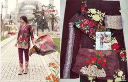Printed Mina Hasan Salwar Suit Fabric