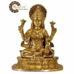 Beautiful Brass Laxmi Maa Idol