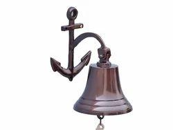 Brass Wall Anchor Ship Bell
