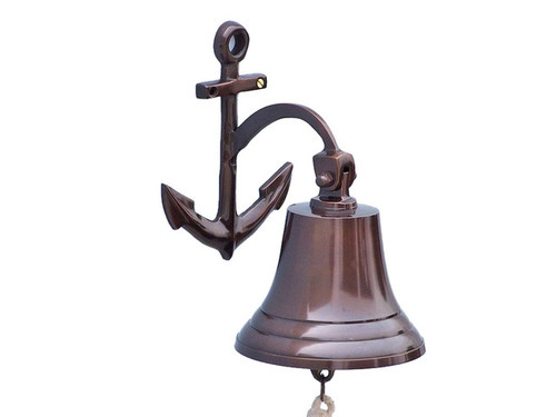 Marine Brass 90mm Bell Wall Hanging Boat Ships Sailing
