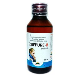 Bromhexine Hydrochloride Terbutaline Sulphate Guaiphenesin And Menthol Syrup