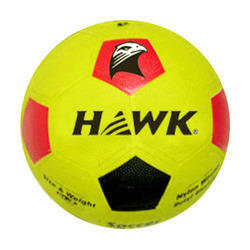 Rubber Molded Hawk Strike Yellow Football