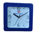 Blue And White Plastic Analog Wall Clock