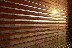 Bass Wood Brown Wooden Venetian Window Blinds