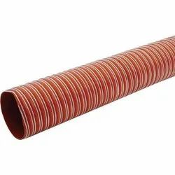 Round UPVC Fabric Duct Hose Pipe, For Industrial
