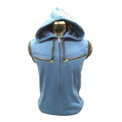 Mens Sleeveless Hooded Sweatshirt