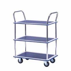Stainless Steel Material Handling Trolley, Capacity: 100-200 Kg