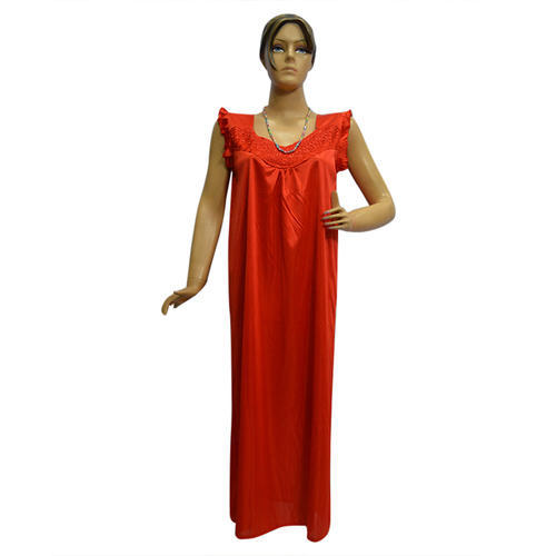 57bb7a7c19936 Satin Long Ladies Nighty Gown, Size: Medium, Rs 335 /piece | ID ...