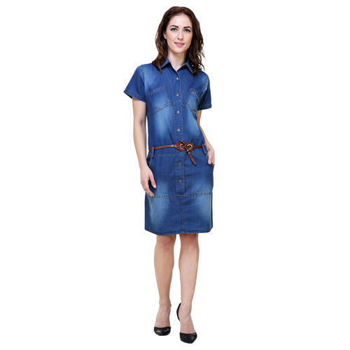 69f8de5c6ef Ladies Half Sleeve Denim Dress