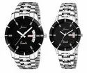 Jainx Black Dial Day & Date Analog  Couple Watch JC458