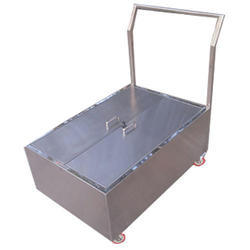 Stainless Steel Close Box Material Handling Trolley