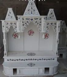 Modern White Inlay Marble Temple