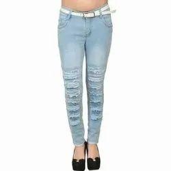 Barak Westside Blue Rugged Jeans, Packaging Type: Packet