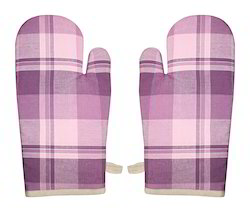 Airwill Cotton Yarn Dyed Big Check Glove