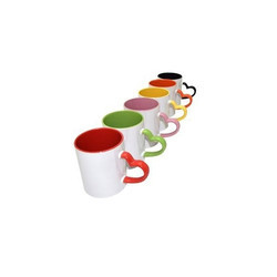 Inner Colour Heart Handle Mug