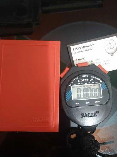 Black Racer Digital Stopwatch, For Sports