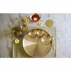 Tulsi Kansa Platter, Round