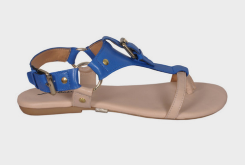 8d847fa4e45a Back-strap Leather Brenda Sandal Blue