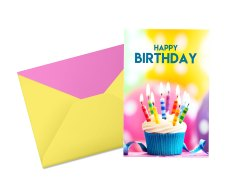 Multicolor Potriat Birthday Greeting Card Size A5