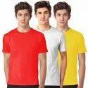 Mens Multicolor Plain Combo T Shirt