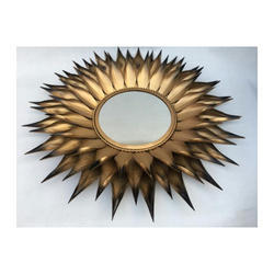 Sunflower Mirror In Metal