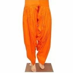 Stitched Plain Cotton Patiala Salwar, Waist Size: Free
