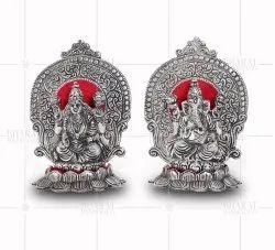 Silver Plated Lakshmi Ganesh