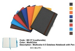 Multicolor A5 Dateless Diary With Pen