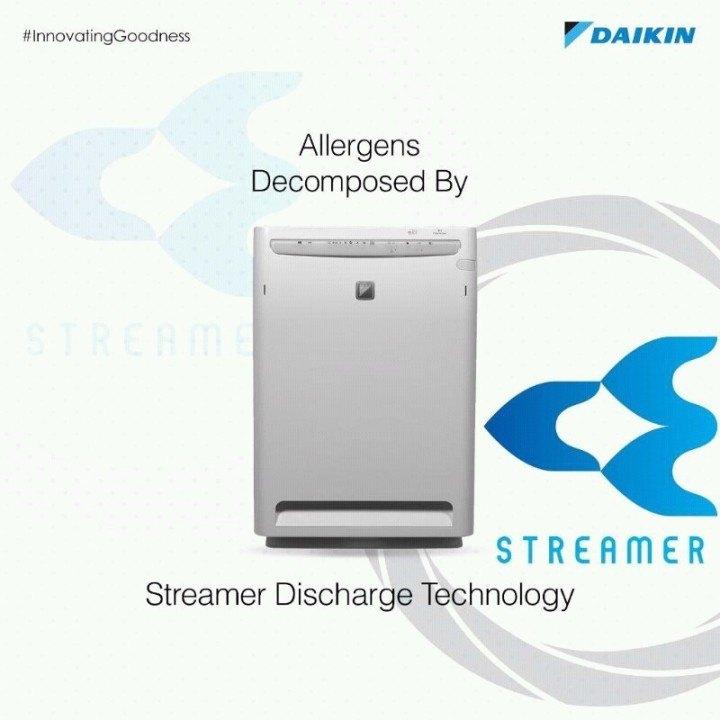 Daikin MC70MVM6, 16 W Ozone Room Air Purifier, 399 Sqft.
