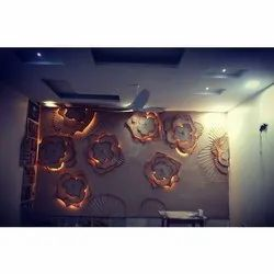 Charcoal Synthetic Wood Modern Wall Murals