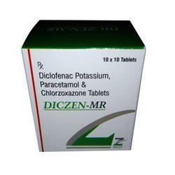 Diclofenac Potassium Paracetamol Chlorzoxzone Tablet