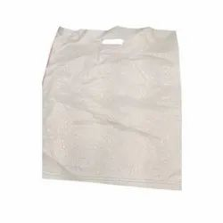 Plain White D Cut PP Handle Bag, for Grocery