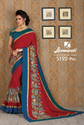 Laxmipati Red Soft Cotton Saree CHITRAVALI 5192