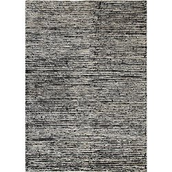 White Black Nature Designer Hand Knotted Area Rug Carpet