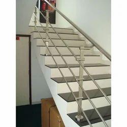 Ladder Steel Bar Design Stainless Steel Indoor Stair Railings