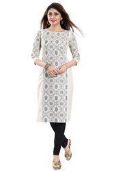 3/4th Sleeves Women's Cotton Kurti