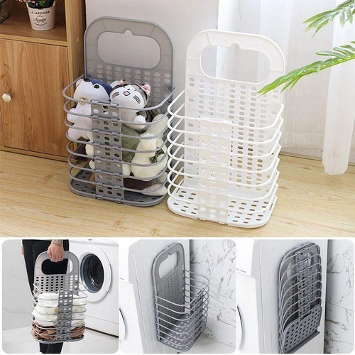 White Mild Steel Wall Mounted Bathroom Hanging Mesh Laundry Basket For Home Rs 169 Piece Id 21793809888